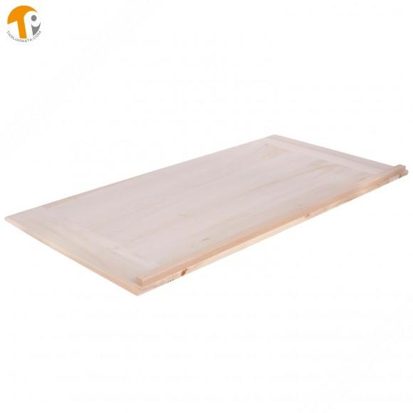 Asse da pasta in legno massello di pioppo. Dimensioni: 120x60x2 cm