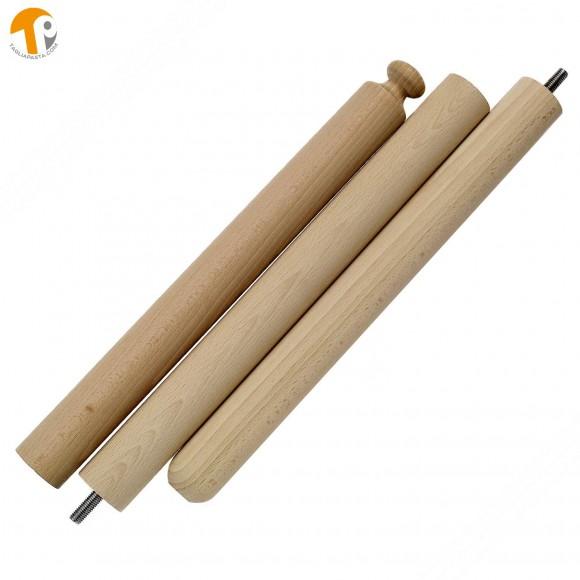 Mattarello componibile da viaggio per tirare per pasta fresca - 80~120 cm
