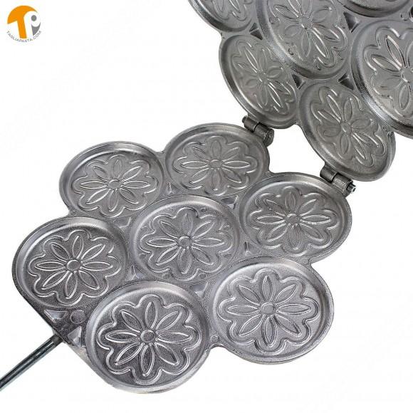 La Tigella - Tigelliera 7 posti in alluminio - tigelle da 8,5cm