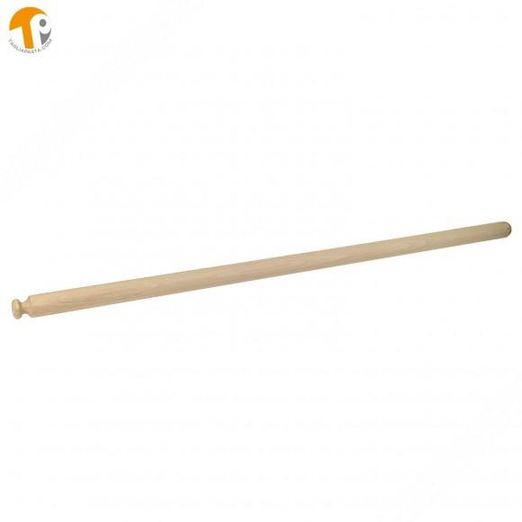 Mattarello professionale in legno di faggio per pasta fresca. Lungo 110 cm