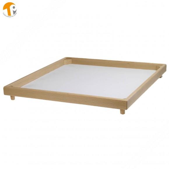 Vassoio quadrato secca e asciuga pasta fresca in legno di faggio. Dimensioni 50x50 cm