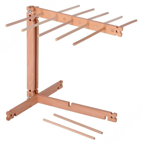 Beech Wood Fresh Pasta Drying Rack. With Foldable Double Rack
