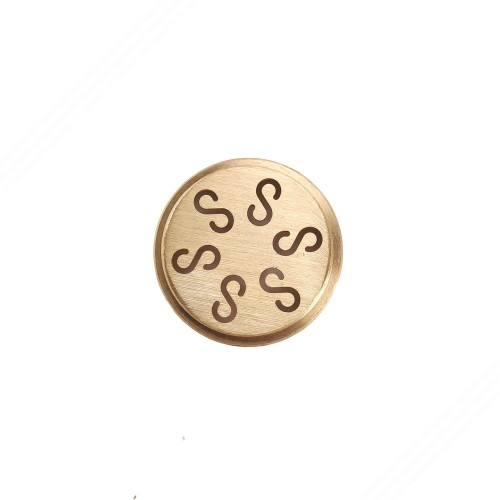 Brass die to create casarecce for TP-TO2021 hand press