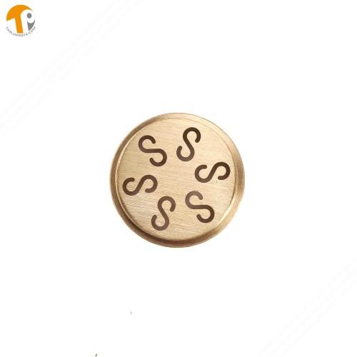 Trafila in ottone per creare casarecce per torchio manuale TP-TO2021