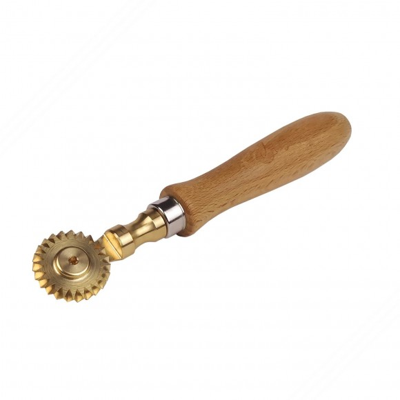 Brass cutter wheel with single toothed blade with 30 mm diameter