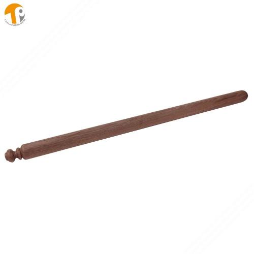 Mattarello in legno di noce per pasta fresca. Lungo 100 cm
