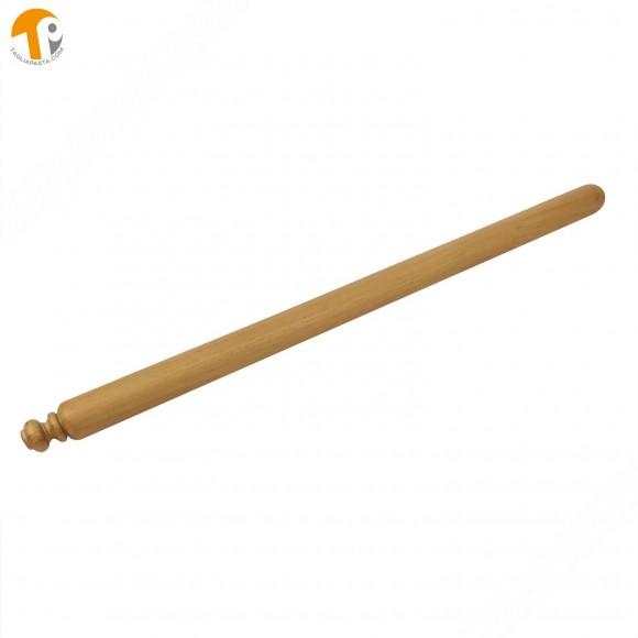 Rolling pin in iroko tree wood for fresh homemade pasta. 80 cm