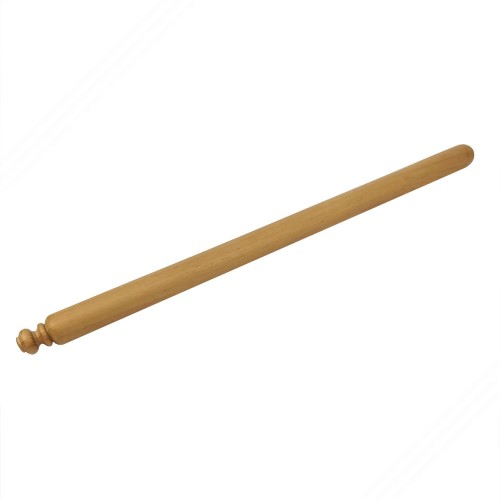 Rolling pin in iroko tree wood for fresh homemade pasta. 100 cm