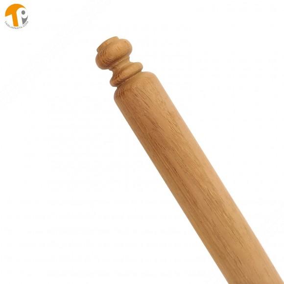 Mattarello in legno di iroko per pasta fresca. Lungo 100 cm