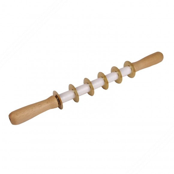 Pasta cutter roller with smooth brass blades for making tortellini, tortelloni and cannelloni