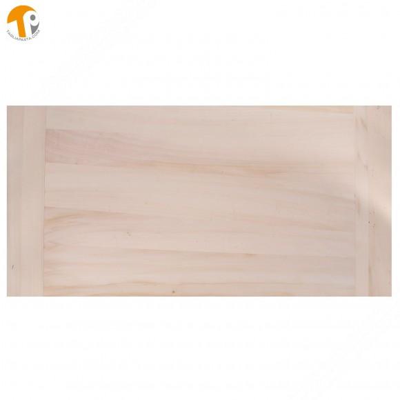Asse da pasta in legno massello di pioppo. Dimensioni: 80x60x2 cm