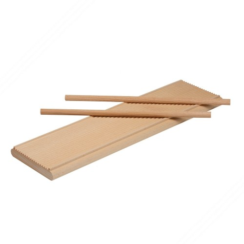 Double use wooden cutting board - rigagnocchi / garganelli and standard