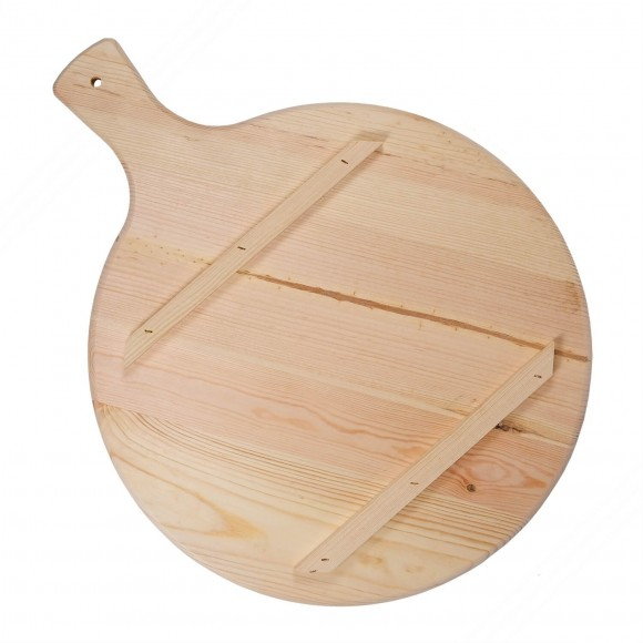 Wooden round cutting board for pizza