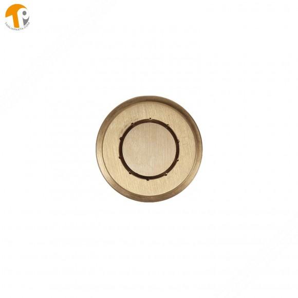 Trafila in ottone per paccheri rigati per torchio manuale TP-TO2021