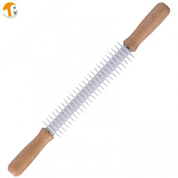Rullo taglia sfoglia in legno con 26 lame lisce per realizzare spaghettoni
