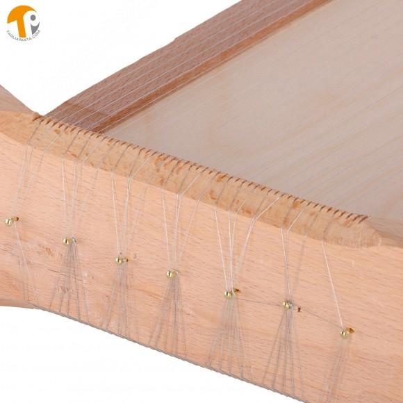 Pasta Guitar for Cutting Abruzzese Spaghetti and Tagliatelle. Measurements 50x26x14 cm