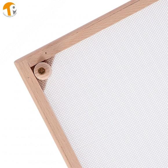 Vassoio rettangolare secca pasta fresca in legno di faggio. Dimensioni 32x60 cm