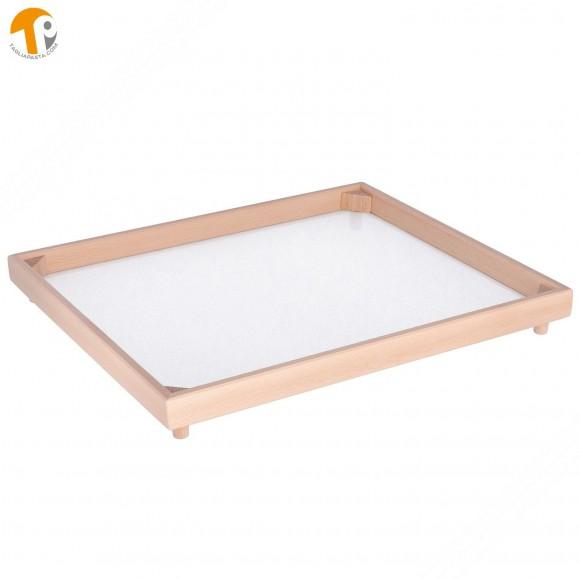 Vassoio rettangolare secca pasta fresca in legno di faggio. Dimensioni 40x50 cm