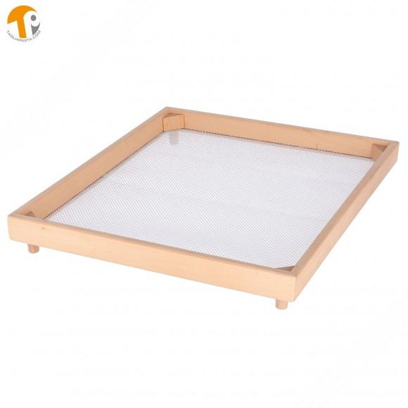 Vassoio rettangolare secca pasta fresca in faggio. Dimensioni 40x50 cm. (Maglia larga)