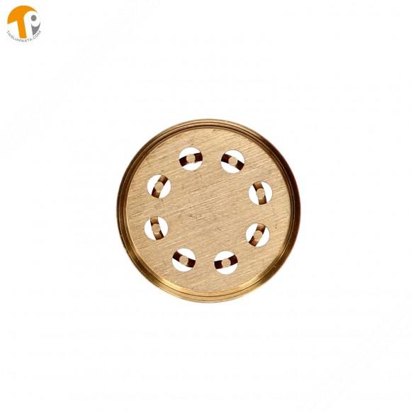 Trafila in ottone per bucatini per torchietto manuale TP-MGOM40025T