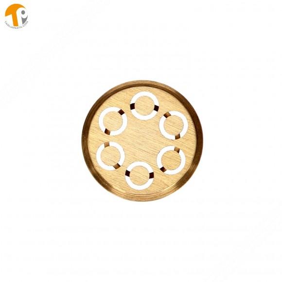 Trafila in ottone per maccheroni per torchietto manuale TP-MGOM40025T