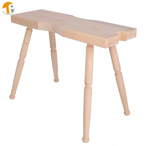 Panca in legno per fissare il Bigolaro