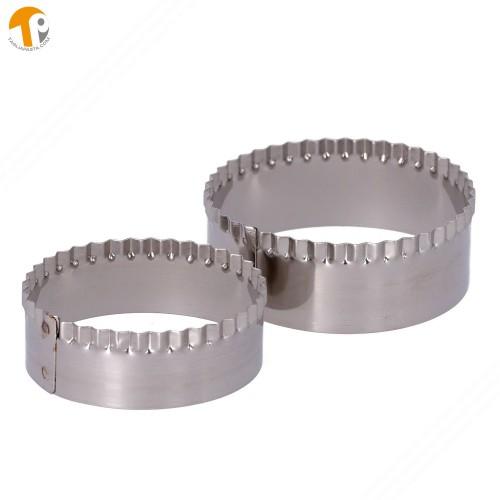 Confezione di 2 anelli INOX senza manico taglia tigelle.