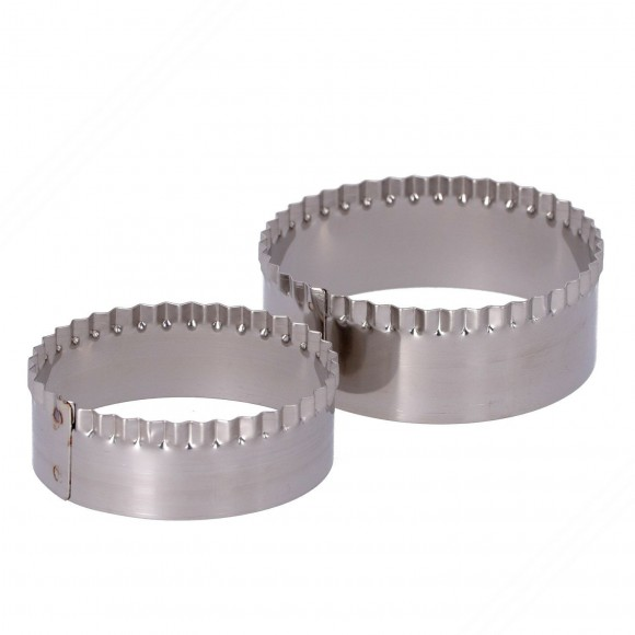 Ring Set with 2 Stainless Steel Rings Without Handle for Cutting Tigella.