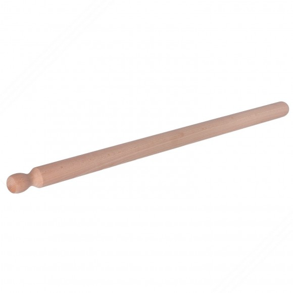 Professional rolling pin in beech tree wood for fresh homemade pasta. Length cm 90