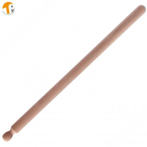 Mattarello professionale in legno di faggio per pasta fresca. Lungo 80 cm