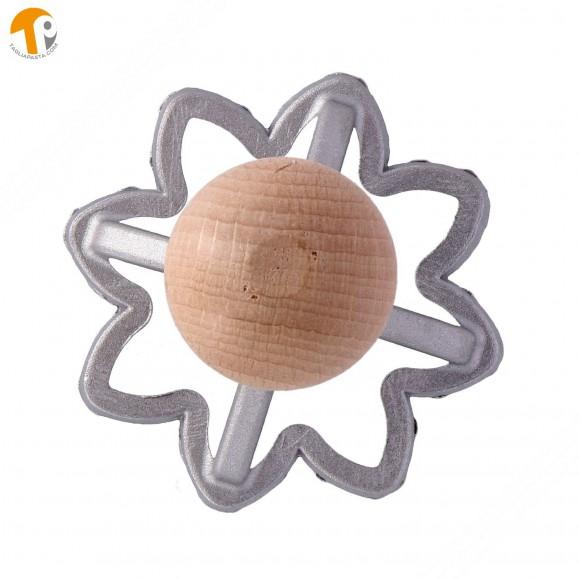 Stampo taglia ravioli in alluminio a forma di girasole - Diametro 70 mm