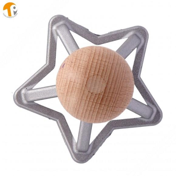 Stampo taglia ravioli in alluminio a forma di stella - Diametro 70 mm