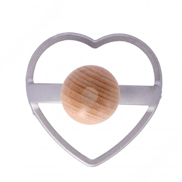 Heart Shaped Aluminum Stamp for Cutting Ravioli – Diameter 85 mm