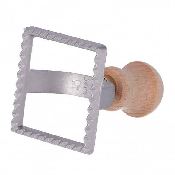 Square Shaped Aluminum Stamp for Cutting Ravioli – Measures 70x70 mm