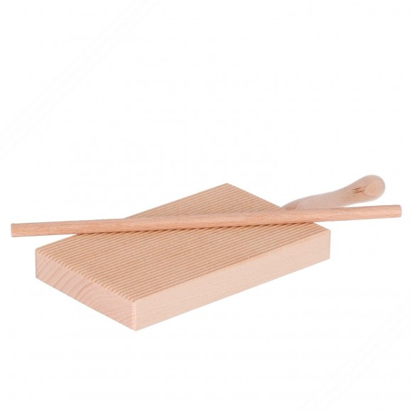 Wooden Board for Rolling Gnocchi and Garganelli Pasta