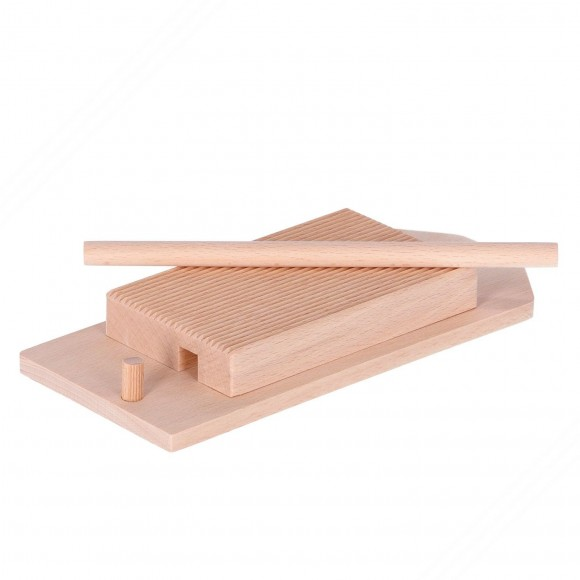 Wooden Board with base for Rolling Gnocchi and Garganelli Pasta
