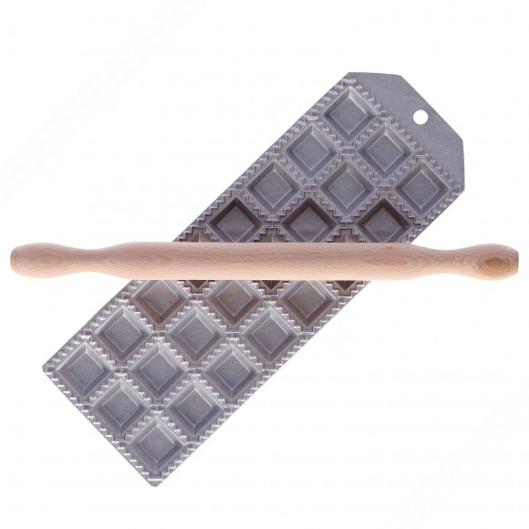 Ravioliera per fare 24 ravioli quadrati 32x32 mm e ripieno quadrato