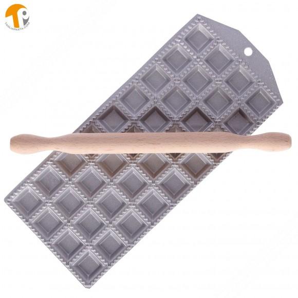 Ravioli Mold for Making 36 Square Ravioli of 35x35 mm with Square Filling Pocket