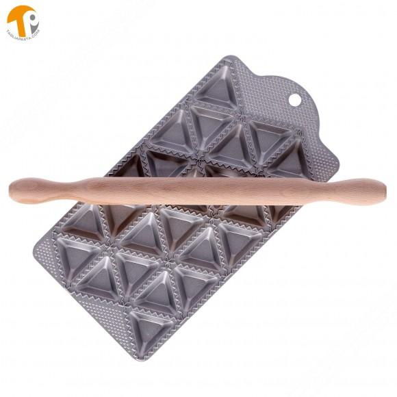 Ravioliera per fare 24 ravioli triangolari lato 50 mm