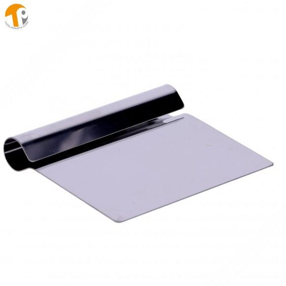 Spatola, completamente in acciaio, per pulizia tagliere con lama di 140 mm
