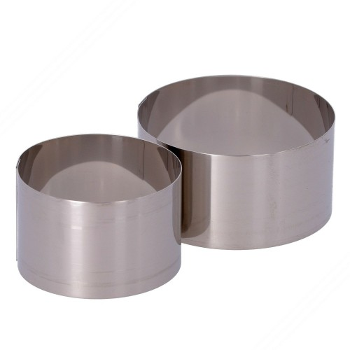 2 Round Stainless Steel Cooking...