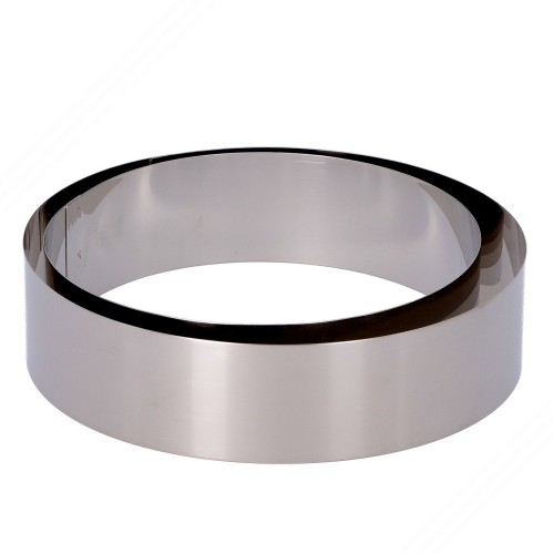 2 Round Stainless Steel Cooking Rings. Diameters: 175 and 200 mm. Height: 50 mm.
