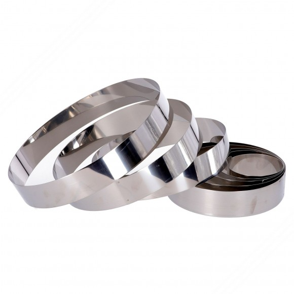 Set of 8 Stainless steel rings for cakes. Height: 40 mm