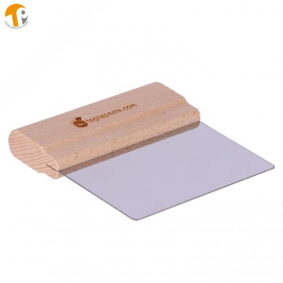 Spatola per pulizia tagliere con lama in acciaio di 116 mm manico in legno