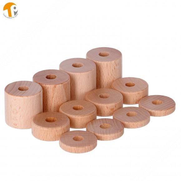 Distanziali di ricambio in legno per rullo tagliasfoglia