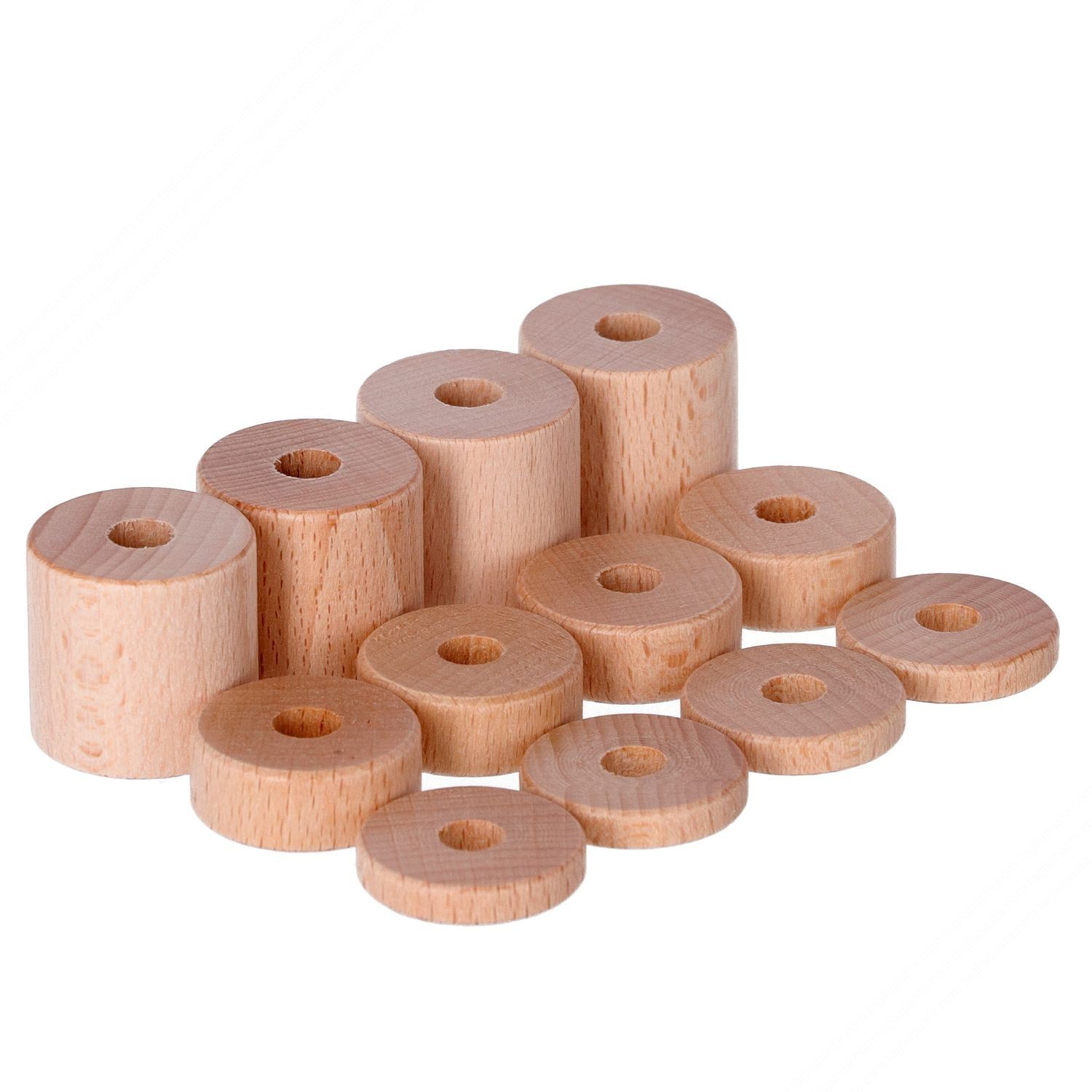 Wooden separators kit for Pasta cutter rolling pins