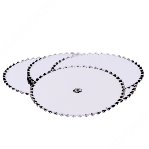 5 spare stainless steel fluted-edged wheels for Pasta cutter rolling pins. Art. TP-001, TP-003. TP-005, TP-007