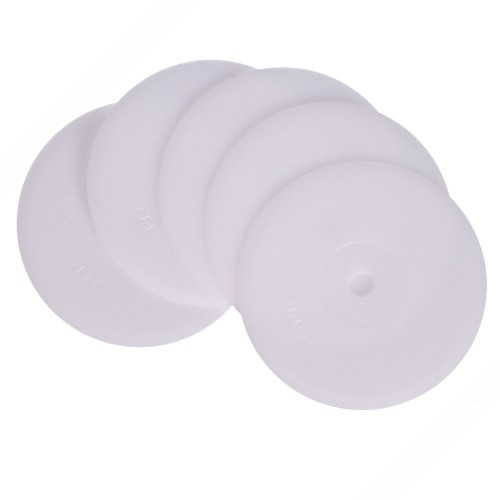 5 spare straight-edged wheels in Derlin for Pasta cutter rolling pins. Art. TP-001, TP-003. TP-005, TP-007