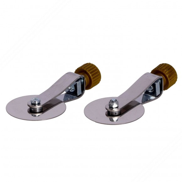 2 stainless steel straight spare wheels