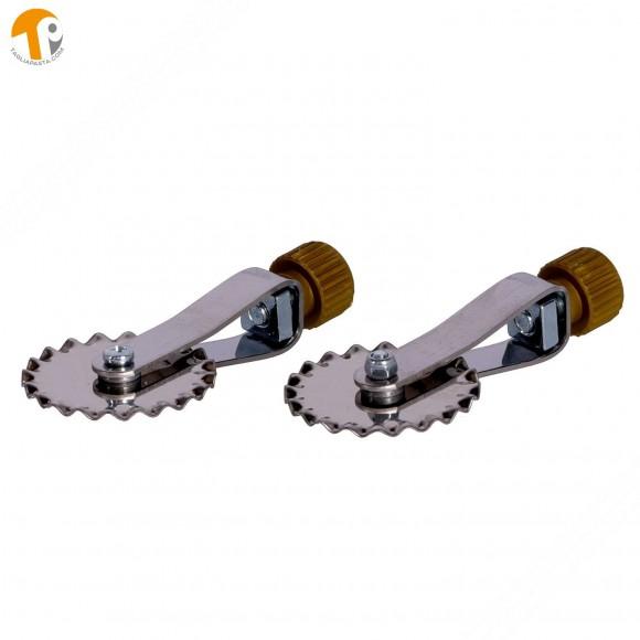 2 lame dentate di ricambio in acciaio INOX